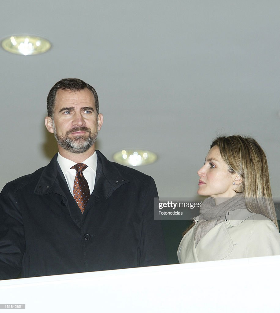 Prince Felipe And Princess Letizia Attend The Opening Of Galicia's Library : News Photo