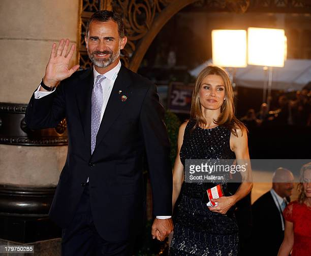 Prince Felipe of Spain and Princess Letizia of Spain attend the Opening Ceremony of the 125th IOC Session at Teatro Colon on September 6 2013 in...