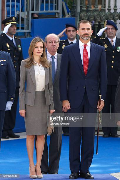 Prince Felipe of Spain and Princess Letizia of Spain attend the celebration of Santos Angeles Custodios Day Spanish police's patrons on October 2...