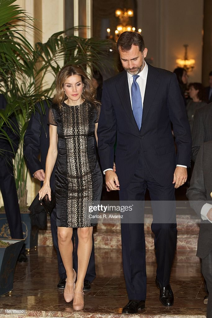 Prince Felipe of Spain and Princess Letizia of Spain attend the 'Francisco Cerecedo Journalism Award' ceremony at the Ritz Hotel on November 20, 2012 in Madrid, Spain.