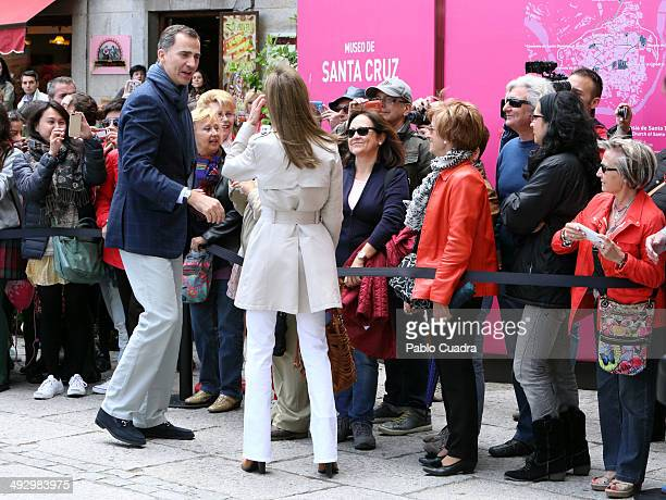 Prince Felipe of Spain and Princess Letizia of Spain celebrates Their 10th Wedding Anniversary visiting 'El Greco' exhibition at the 'Santa Cruz'...