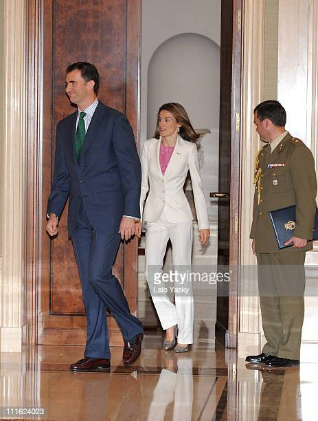 Prince Felipe of Spain and Princess Letizia of Spain host a reception at the Zarzuela Palace on May 26 2008 in Madrid Spain