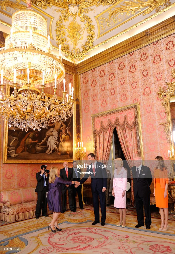 Spanish Royals Receive the General Governor of Australia Quentin Bryce at The Royal Palace