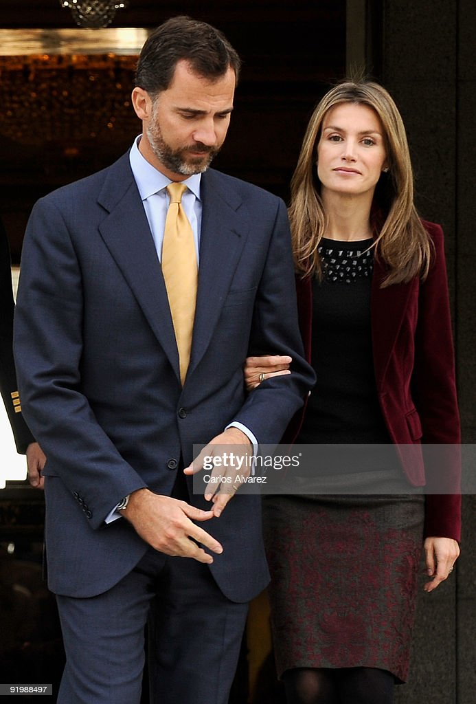 Spanish Royals Official Lunch with Michel Suleiman, President of Libanon : News Photo