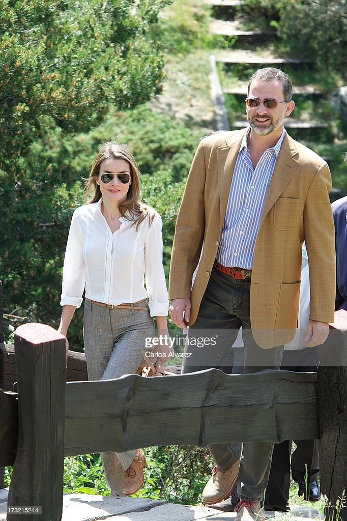 Prince Felipe and Princess Letizia of Spain Visit Sierra de Guadarrama National Park