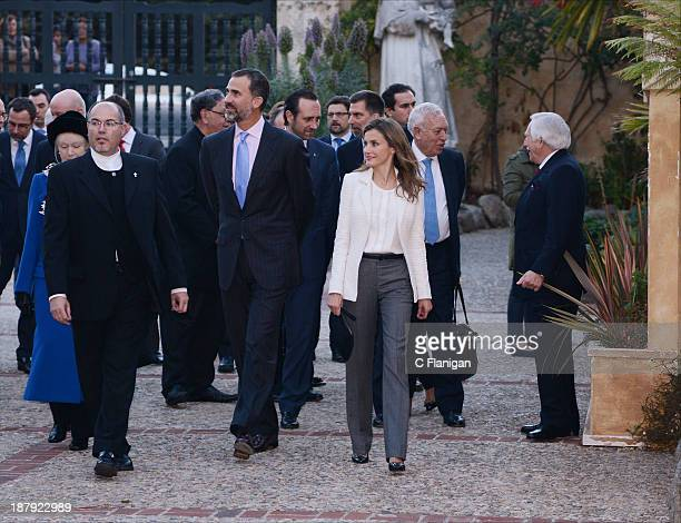 Prince Felipe of Spain and Princess Letizia of Spain visit The San Carlos Borromeo de Carmelo Mission on November 13 2013 in San Carlos California