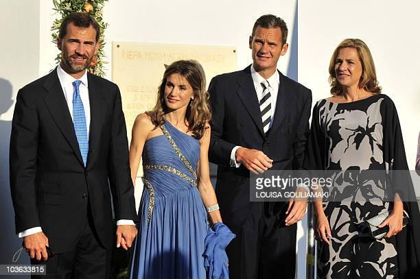 Prince Felipe of Spain and Princess Letizia Princess Cristina of Spain and her husband Inaki Urdangarin arrive for the wedding of Nicolas the second...