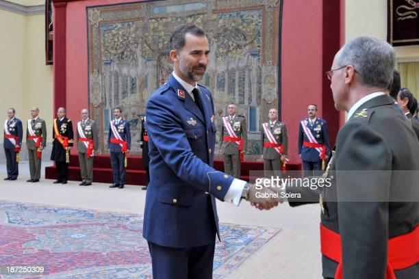 Prince Felipe of Spain attends audiences at El Pardo Palace on November 7 2013 in Madrid Spain