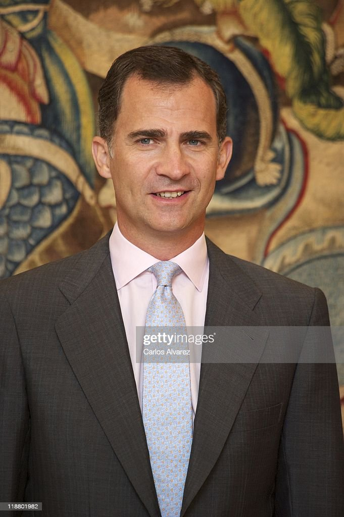 Prince Felipe of Spain attends audiences at Zarzuela Palace on July 11, 2011 in Madrid, Spain.
