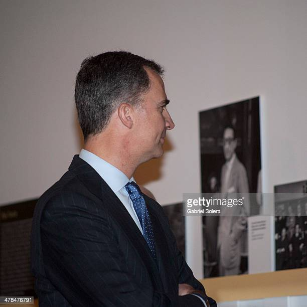Prince Felipe of Spain attends 'La generacion del 14 Ciencia y Modernidad' Exhibition Opening at Biblioteca Nacional on March 13 2014 in Madrid Spain