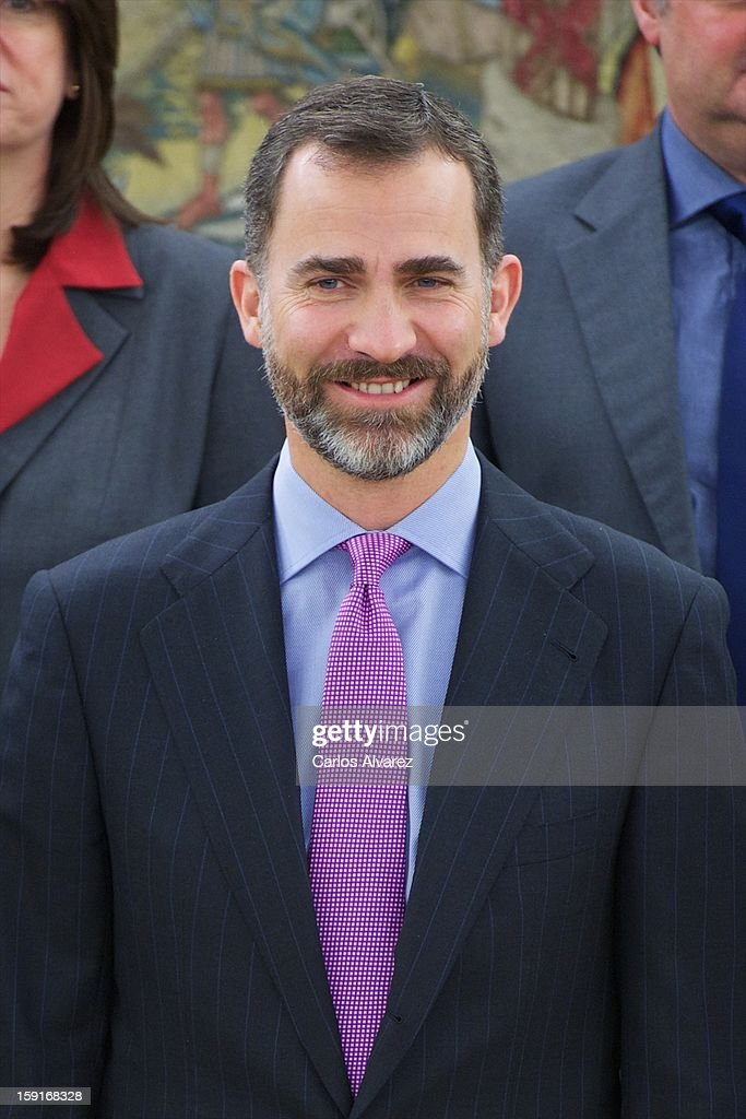 Prince Felipe and Princess Letizia of Spain Attend Audiences at Zarzuela Palace in Madrid