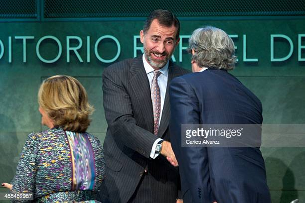 Prince Felipe of Spain attends the CODESPA Awards 2013 at the Rafael del Pino Foundation on December 12 2013 in Madrid Spain
