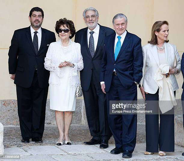 Prince Felipe of Spain delivers 'Camino Real' Award to doctor Valentin Fuster . Placido Domingo , who reveived this award last year, his wife Marta...