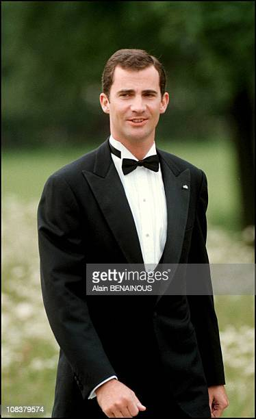 Prince Felipe of Spain in Sweden on June 18 2001