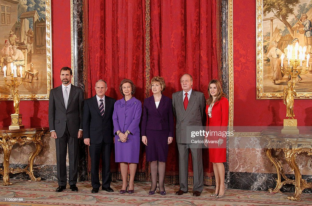 Spanish Royals and President of Ireland Meet for Lunch at La Zarzuela Palace