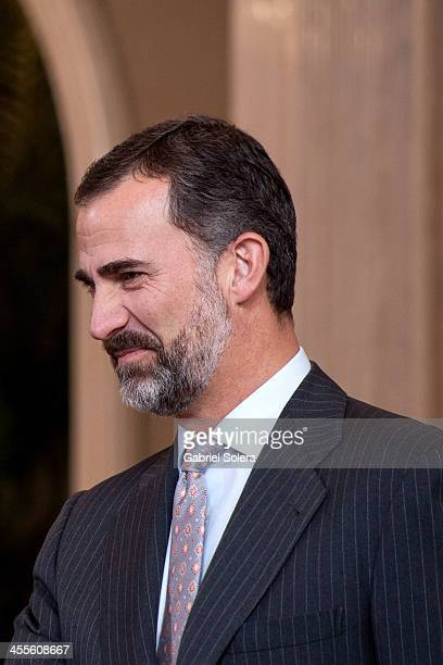 Prince Felipe of Spain meets Ambassadors of the United Nations at Zarzuela Palace on December 12 2013 in Madrid Spain