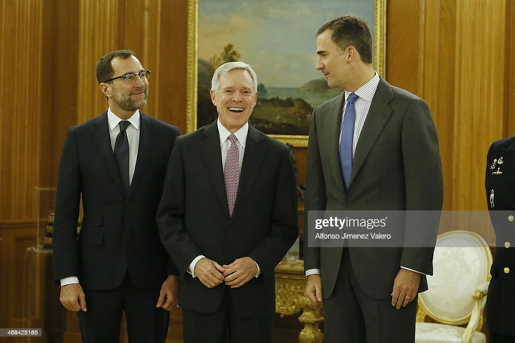 Prince Felipe of Spain Meets Mr. Ray Mabus, Secretary of the Navy of USA