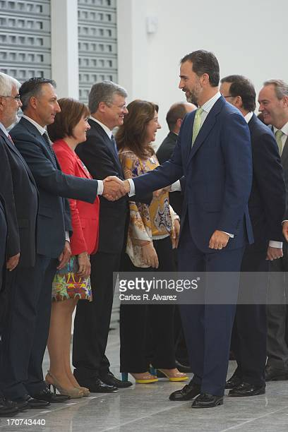 Prince Felipe Of Spain officially inaugurates the new Alta Velocidad Espanola high speed Madrid to Alicante rail link on June 17 2013 in Madrid Spain
