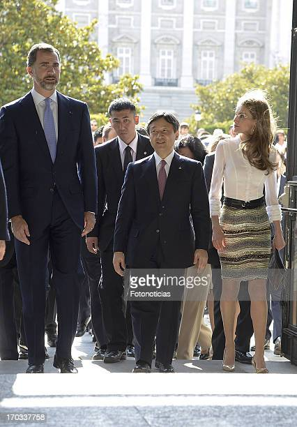 Prince Felipe of Spain Prince Naruhito of Japan and Princess Letizia of Spain attend the opening concert on the occasion of the SpainJapan Dual Year...