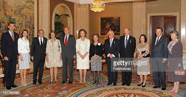 Prince Felipe of Spain Princess Letizia of Spain Javier Solana Concepcion Gimenez King Juan Carlos of Spain Queen Sofia of Spain Victor Garcia de la...