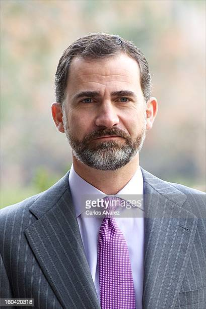 Prince Felipe of Spain visits the new Repsol Headquarters on January 31 2013 in Madrid Spain