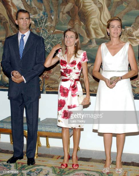 Prince Felipe Princess Letizia and Cristina of Spain