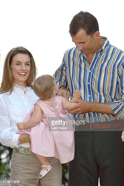 Prince Felipe Princess Letizia and Daughter Leonor