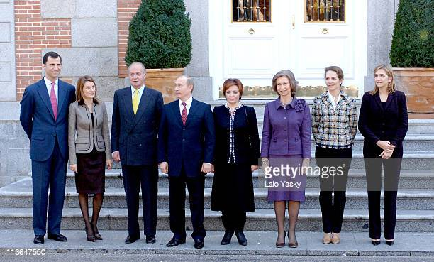 Prince Felipe Princess Letizia King Juan Carlos Vladimir Putin and Liudmila Putin Queen Sofia Princess Elena and Princess Cristina