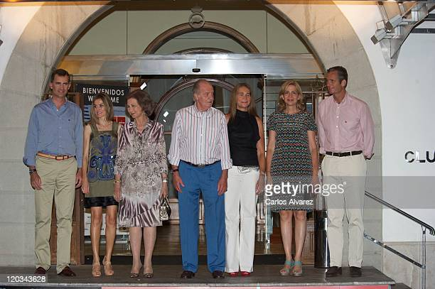 Prince Felipe Princess Letizia Queen Sofia King Juan Carlos Princess Elena Princess Cristina and Inaki Urdangarin of Spanish Royal Family attend 30th...