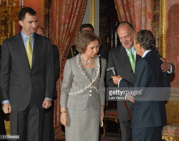 TRH Prince Felipe Queen Sofia and King Juan Carlos and writer Antonio Gala