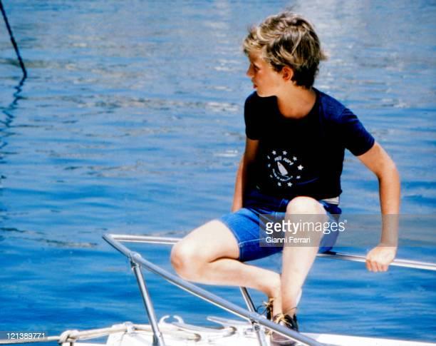 Prince Felipe son of the Spanish Kings on holiday in the Balearic Islands 12th August 1979 Palma de Mallorca Spain