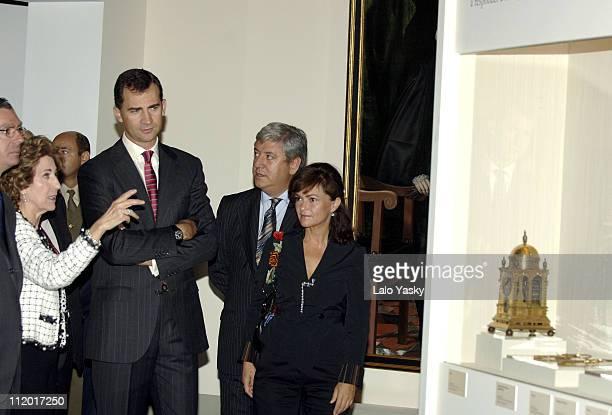 Prince Felipe with Alberto Ruiz Gallardon and Carmen Calvo