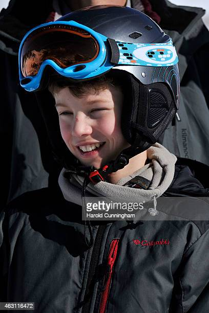 Prince Felix of Denmark attends the Danish Royal family annual skiing photocall whilst on holiday on February 10 2015 in ColdeBretaye near...