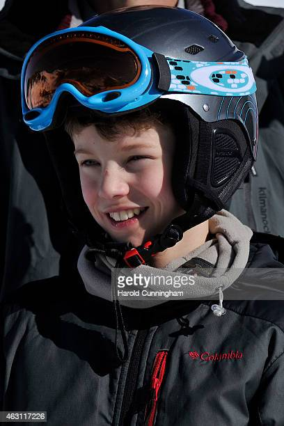 Prince Felix of Denmark attends the Danish Royal family annual skiing photocall whilst on holiday on February 10, 2015 in Col-de-Bretaye near...