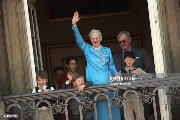 Prince Felix of Denmark Prince Christian of Denmark Queen Margrethe of Denmark and Prince Nicolai of Denmark attend Queen Margrethe's 70th Birthday...