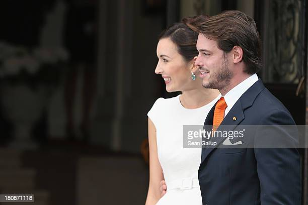 Prince Felix Of Luxembourg and Claire Lademacher arrive at their Civil Wedding Ceremony at Villa Rothschild Kempinski on September 17 2013 in...