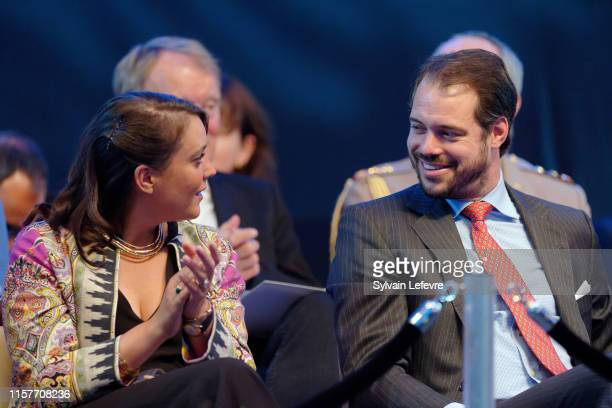 Prince Felix of Luxembourg and Princess Alexandra of Luxembourg celebrates National Day on June 22 2019 in Luxembourg Luxembourg