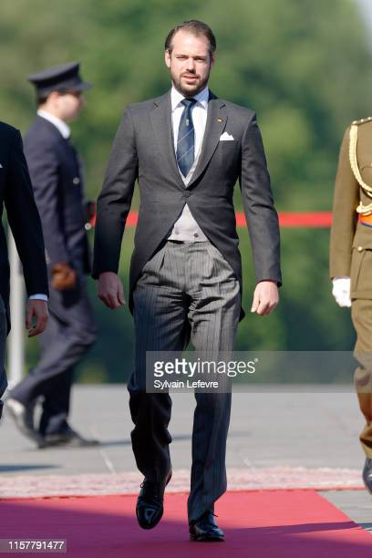 Prince Felix of Luxembourg arrives at the Philharmonie for the concert on the National Day on June 23 2019 in Luxembourg Luxembourg