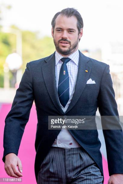 Prince Felix of Luxembourg arrives at the Philiarmonie for the concert on the National Day on June 23 2019 in Luxembourg Luxembourg