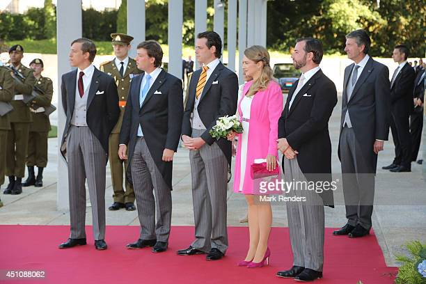 Prince Felix of Luxembourg Prince Louis of Luxembourg Prince Sebastien of Luxembourg Princess Stephanie of Luxembourg and Prince Guillaume of...