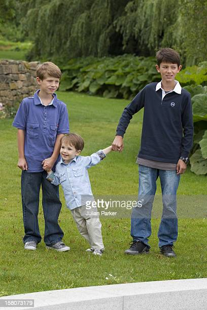 Prince Felix Prince Henrik Prince Nikolai Attend APhotocall For The Danish Royal Family At Grasten Castle In Southern Denmark
