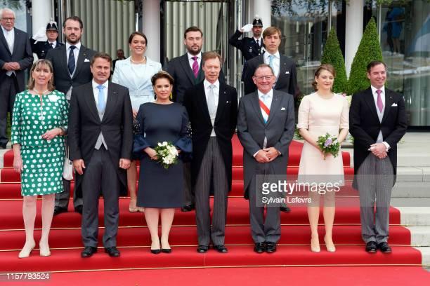 Prince Felix Princess Alexandra Prince Sebastien and Prince Louis guest Luxembourg Prime Minister Xavier Bettel Grand Duke Henri of Luxembourg Grand...