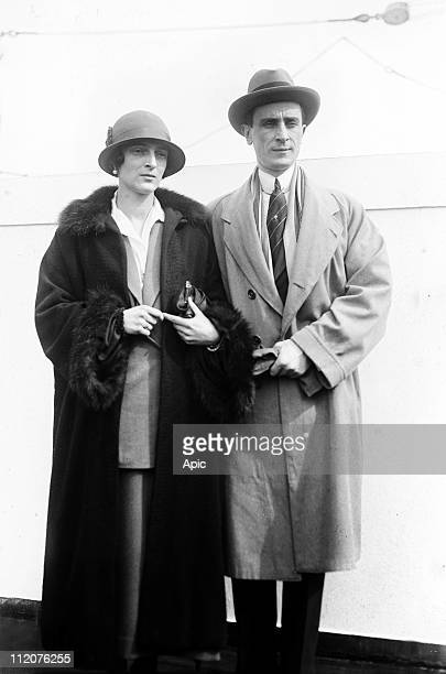 Prince Felix Youssoupoff Russian aristocrat who killed Rasputin in 1916 here with his wife Irina c 1925