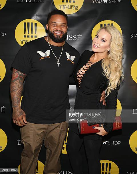Prince Fielder and wife Chanel Fielder attend the TYLITE Launch Party at Wallplay Gallery on February 12 2016 in New York City