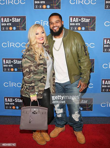 Prince Fielder and wife Chanel Fielder attends NBA AllStar Saturday Night Powered By CIROC Vodka at Barclays Center on February 14 2015 in New York...