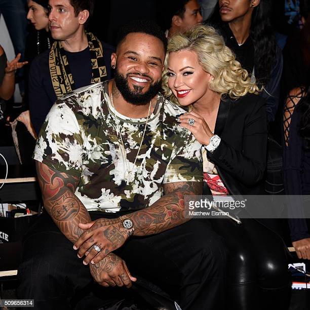 Prince Fielder of the Texas Rangers and Chanel Fielder attend Rookie USA Presents Kids Rock Front Row Backstage Fall 2016 New York Fashion Week The...