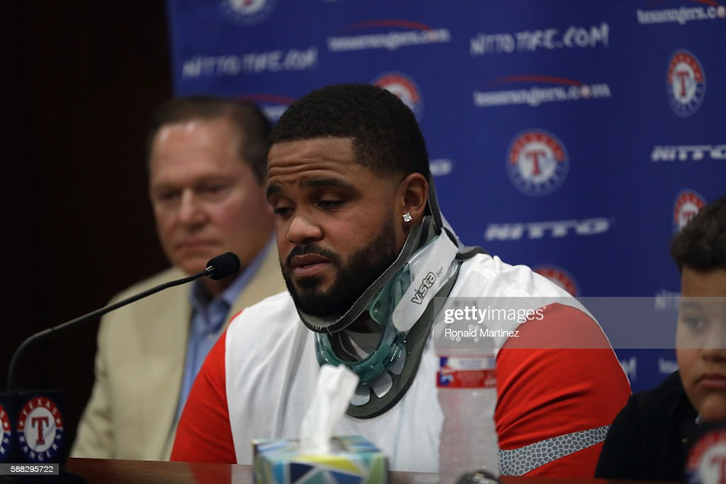 Prince Fielder News Conference : News Photo