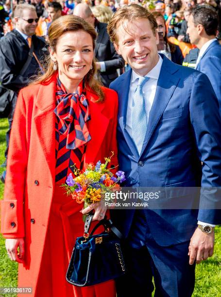 Prince Floris of The Netherlands and Princess Aimee of The Netherlands during the Kingsday celebration on April 27 2018 in Groningen Netherlands