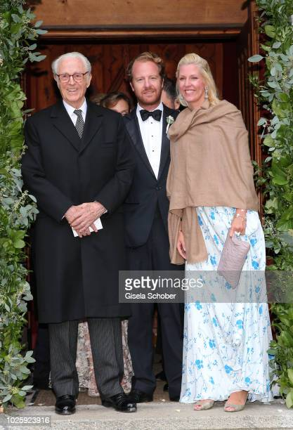 Prince Franz of Bavaria Princess Felipa of Bavaria and her husband Christian Dienst during the wedding of Prince Konstantin of Bavaria and Princess...