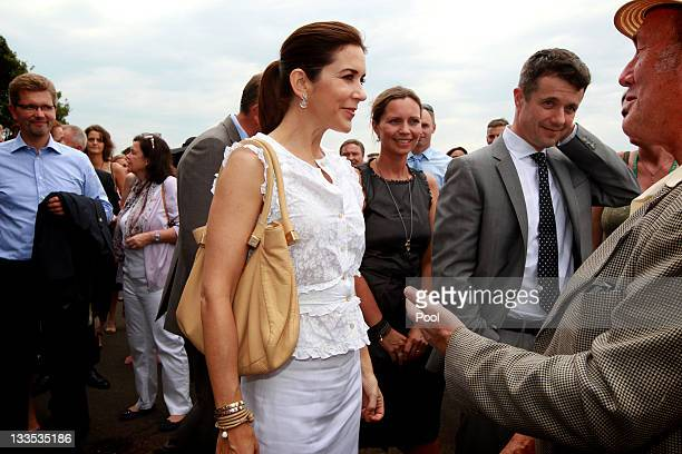 Prince Frederick of Denmark and Princess Mary of Denmark attend BBQ with special guests at Garden Island on November 20 2011 in Sydney Australia...
